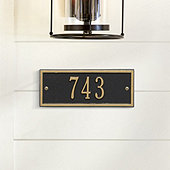 Camden Petite Wall Address Plaque