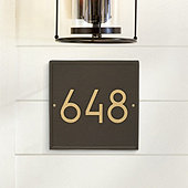 Simple Wall Address Plaque