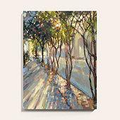Sunlight Through the Crepe Myrtles Art