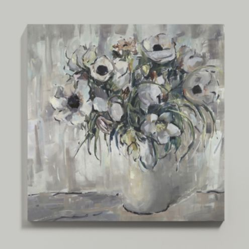 Anemones at Dusk Stretched Canvas 48