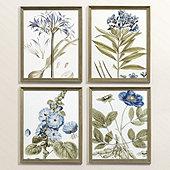 Petite Indigo Botanical Art