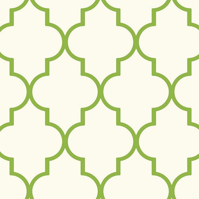 Trellis Wallpaper Green Double Roll