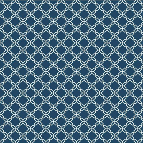 Chain Link Wallpaper Double Roll Navy/White