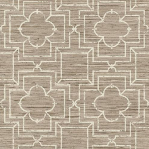Port Trellis Wallpaper Double Roll Taupe/Cream