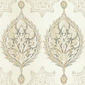 Patina Vie Damask Palm Wallpaper