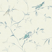 Patina Vie Bird and Twig Wallpaper