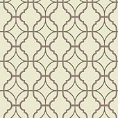 Arabesque Trellis Wallpaper - Fuchsia