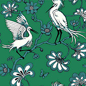Egret Wallpaper Design