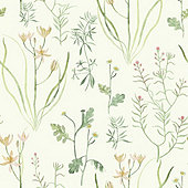Watercolor Wildflowers Wallpaper