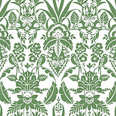 Tropical Damask Wallpaper