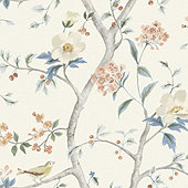 Chinoiserie Floral Wallpaper