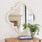 Bone Quatrefoil Mirror