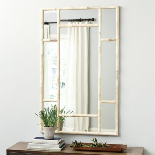 Bone Bamboo Mirror