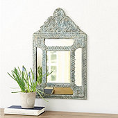 Crested Verdigris Mirror