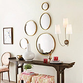 Antiqued Ava Convex Mirror