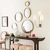 Antiqued Ava Convex Mirror