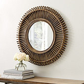 Raylan Rattan Mirror