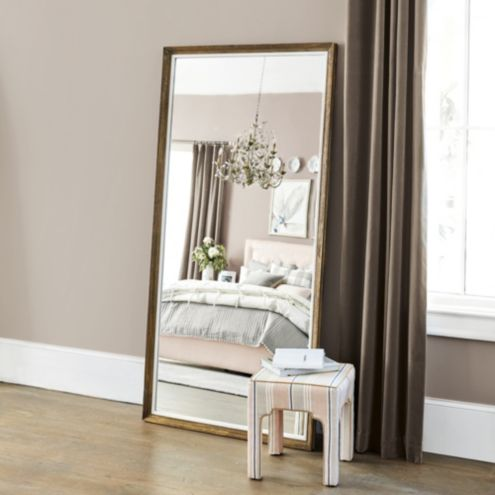 Alannah Rectangle Gold Wood Mirror