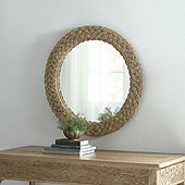 Braided Natural Mirror