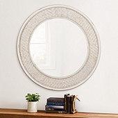 Suzanne Kasler Woven Rattan Round Mirror
