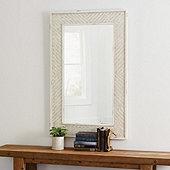 Suzanne Kasler Woven Rattan Rectangular Mirror