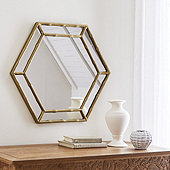 Bamboo Hexagon Mirror