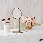 Brass Mirror on Stand