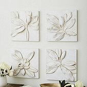 Magnolia Plaques - Set of 4