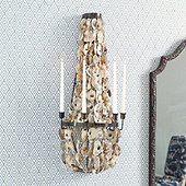 Oyster Candle Wall Sconce