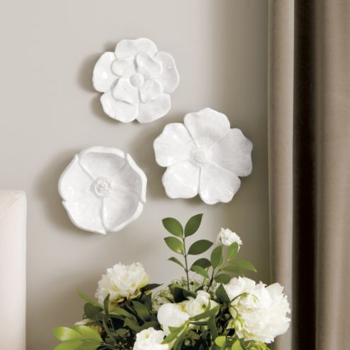 Ceramic Flowers Wall D�cor Set