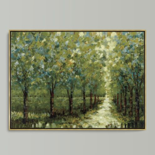 Spring Walkway Framed Canvas 34