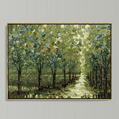 Spring Walkway Framed Canvas