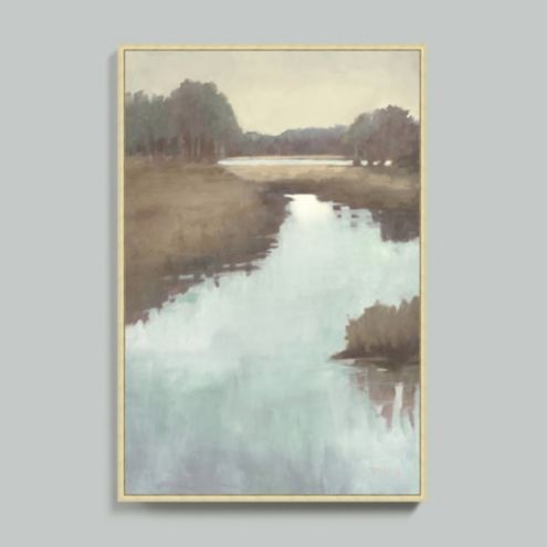 Morning Marsh Framed Canvas