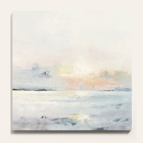 Pastel Sunset Stretched Canvas Art