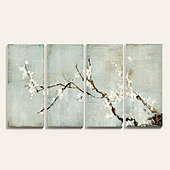 Sakura Blossoms Art - Set of 4