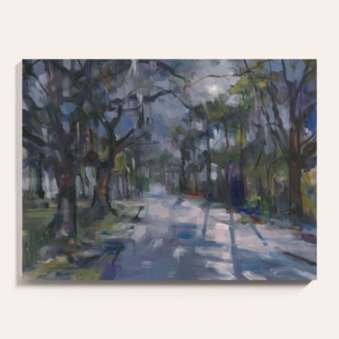 Moonlit Oaks Stretch Canvas