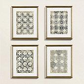 Petite Vintage Blockprint Art