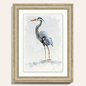Watercolor Heron Art