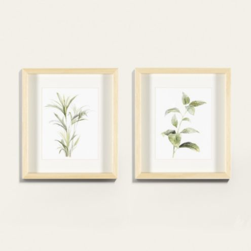 Petite Tropical Leaves Framed Art Print Series