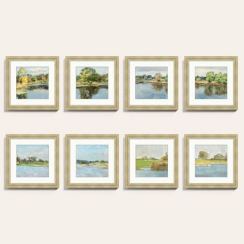 Petite On the River Framed Art Print Series