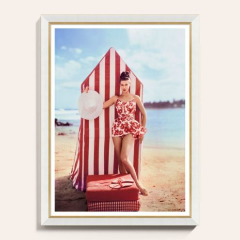Cabana Beach Framed Art Print