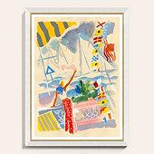 Cote D'Azur Framed Print Art