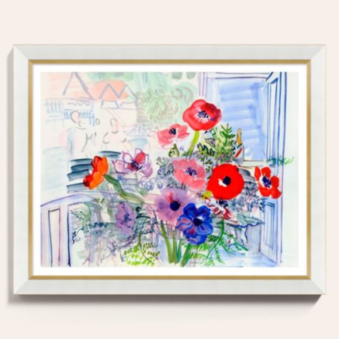 Fleurs de Paris Watercolor Framed Art Print
