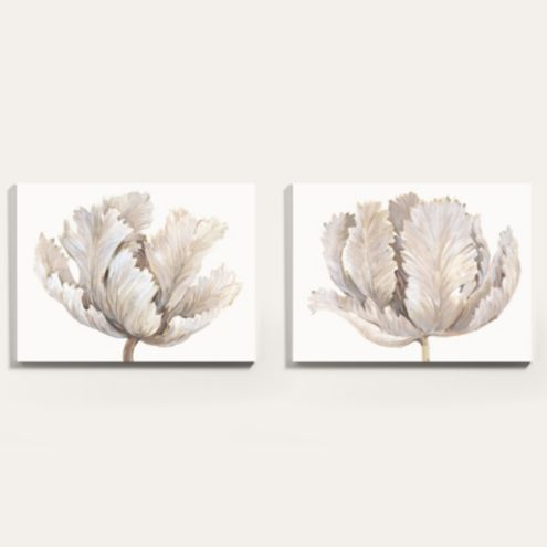 Delicate Blush Tulips Floral Canvas Art Print