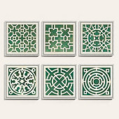Garden Plan Pattern Art