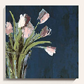 Tulips on Blue Art