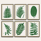 Green Fern Leaf Art