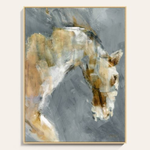 Colt Portrait Framed Canvas Art Print