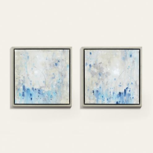 Lost in Blue I Framed Abstract Canvas Art