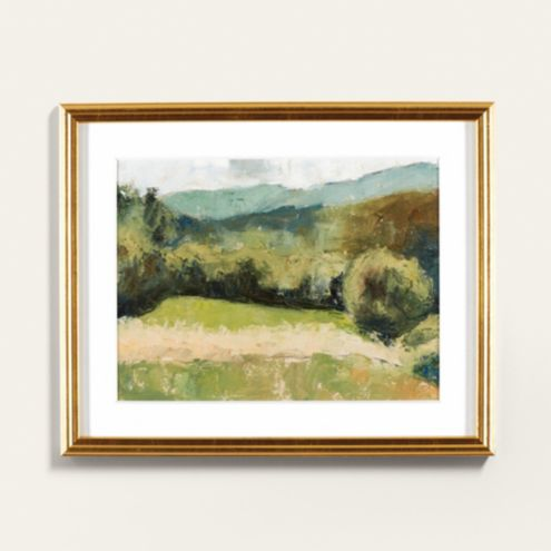 Petite Summer Mountains Framed Art Print